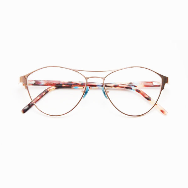 Tom Davies - TD490 - 1467 - Gold / Blue Tortoise - Cateye - Titanium - Eyeglasses - Hicks Brunson Eyewear