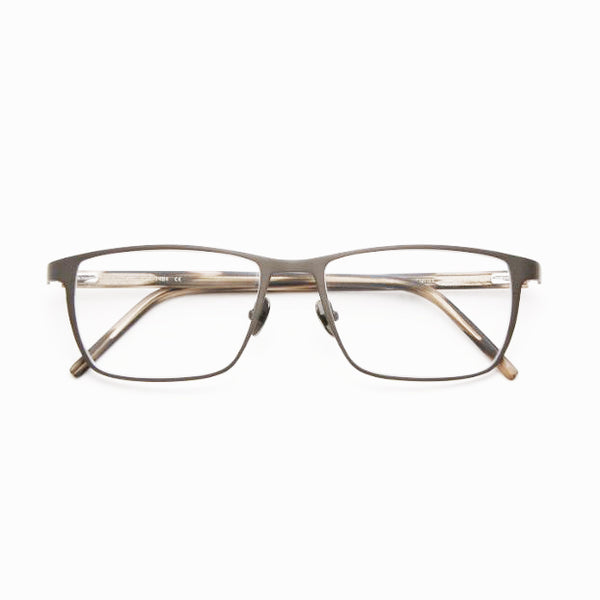 Tom Davies - TD495 - 1484 - Matte Grey / Smoke - Rectangle - Titanium - Eyeglasses - Hicks Brunson Eyewear