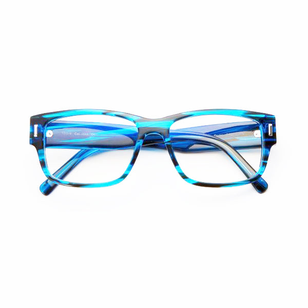 Tom Davies - TD510 - 1533 - Crystal Dark Blue - Rectangle - Eyeglasses - Hicks Brunson Eyewear