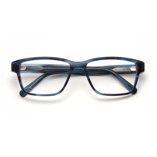 Tom Davies - TD513 - 1544 - Matte Blue - Rectangle - Eyeglasses - Hicks Brunson Eyewear
