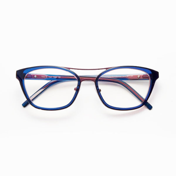 Tom Davies - TD518 - 1564 - Blue / Fuchsia - Cateye - Eyeglasses - Hicks Brunson Eyewear