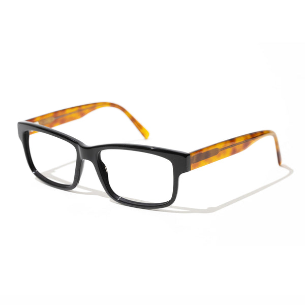 Tom Davies - TD606 - 1666 - Black / Honey Tortoise - Rectangle - Cotton Acetate - Eyeglasses - Hicks Brunson Eyewear