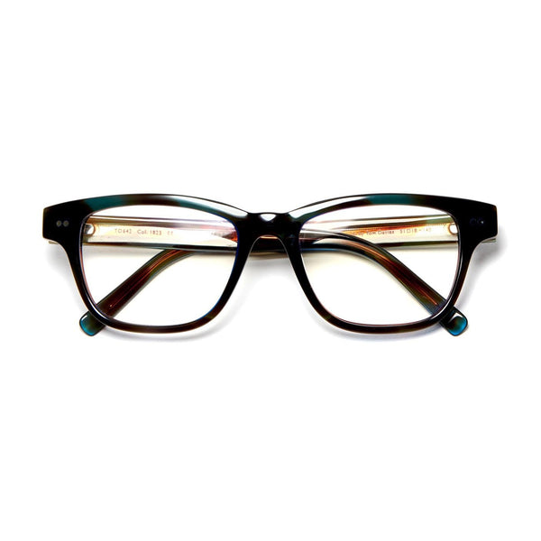 Tom Davies - TD642 - 1823 - Crystal Blue / Smoked Brown - Rectangle - Eyeglasses