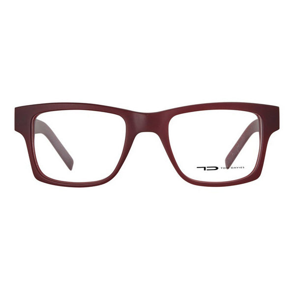 TD Tom Davies LE Limited Edition Chicago 24156 Matte Ruby Eyeglasses Hicks Brunson Eyewear
