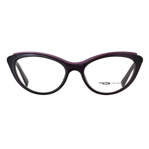 TD Tom Davies LE Limited Edition Chelsea 30860 Metallic Purple Eyeglasses Hicks Brunson Eyewear