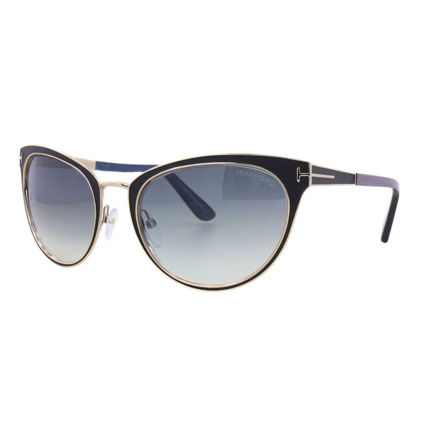 Tom Ford - TF 373 - Nina - 01B - Black/Gold - Cateye Sunglasses