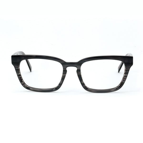 Tom Davies - TD605 - 1664 - Black-Grey Stripe - Rectangle - Eyeglasses - Hicks Brunson Eyewear