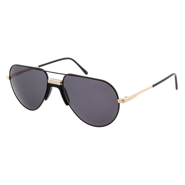Andy Wolf - White - A - Black/Gold - Sunglasses - Metal - Aviator