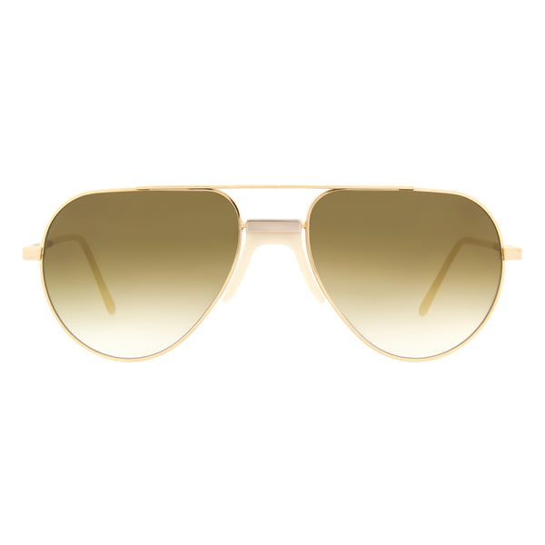 Andy Wolf - White - E - Gold/White - Sunglasses - Metal - Aviator