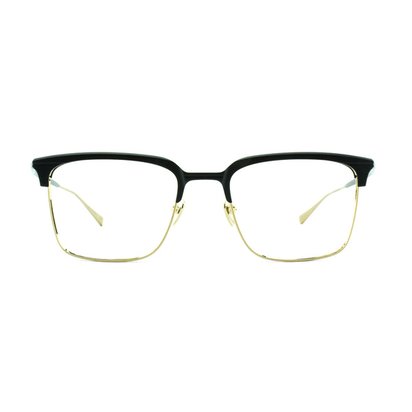 Masunaga - Waldorf - 29 - Black / Gold - Rectangular - Titanium - Eyeglasses - Hicks Brunson Eyewear
