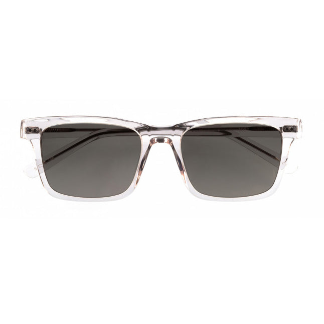 Hicks Brunson - Wesley - 3021 - Crystal - Grey-Green Gradient Tinted Lenses - Rectangle - Sunglasses