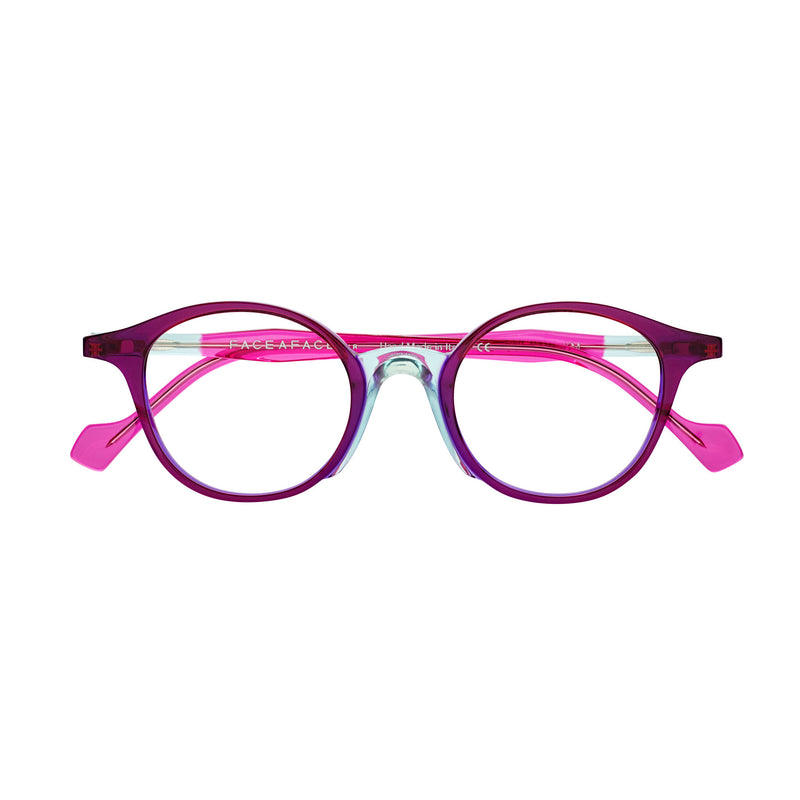 Face A Face - Yayoi 2 -  0370 - Purple / Pink - Round - Eyeglasses - Hicks Brunson Eyewear