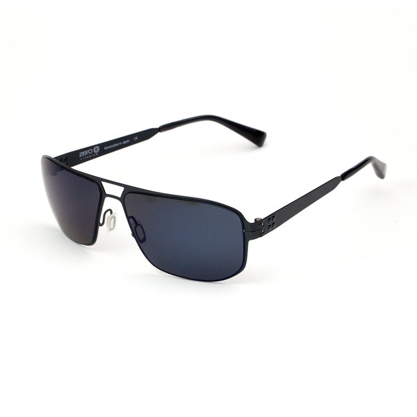 Zero G - Harlem - Brushed Blue Steel - Polarized - Blue Mirrored - Sunglasses