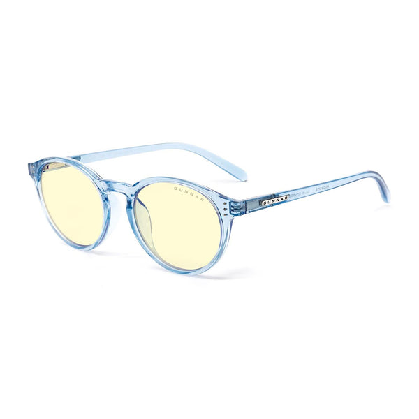 Gunnar - Attache - Blue Crystal - Amber 65% - Blue Light Glasses - Round
