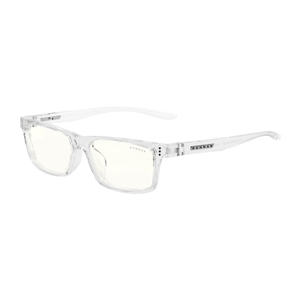Gunnar - Cruz Kids Large - Crystal - Clear 35% - Kids Blue Light Glasses - Rectangle