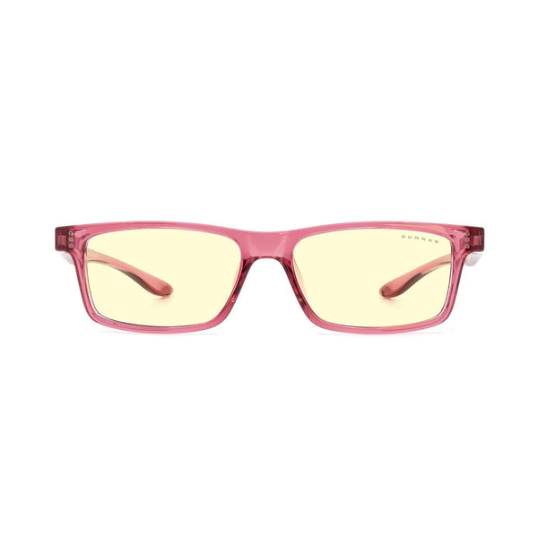 Gunnar - Cruz Kids Large - Pink - Amber 65% - Kids Blue Light Glasses - Rectangle