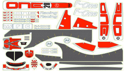 WRC DECAL F-ONE - RED