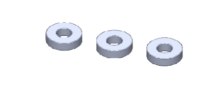 F-ONE LIGHT DAMPER SPACERS 7X3X2