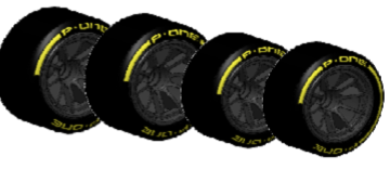 P-ONE TYRES FOR FORMULA CAR 1/10