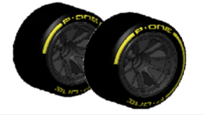 P-ONE TYRES FOR FORMULA CAR 1/10 - REAR