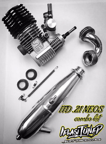 IELASI TUNED .21 NEOS ON ROAD COMBO KIT W/ 51015  EXHAUST SET NEW SPECIAL!!