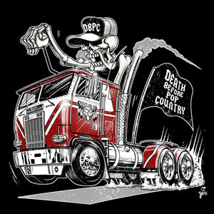 Death Before Pop Country Hot Rod Cabover Semi Tee!