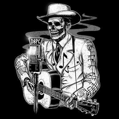 Drifting Troubadour! Death Before Pop Country Outlaw Ghost T-Shirt black Tshirt