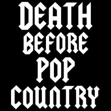 Load image into Gallery viewer, DEATH BEFORE POP COUNTRY logo hoodies Gildan 50/50