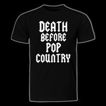 Load image into Gallery viewer, OG Death Before Pop Country Logo tee!