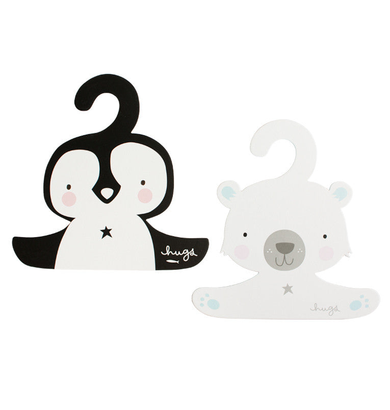 Coat Hangers Penguin and Polar Bear Set