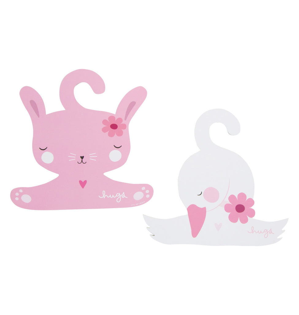 Coat Hangers Rabbit and Swan Set