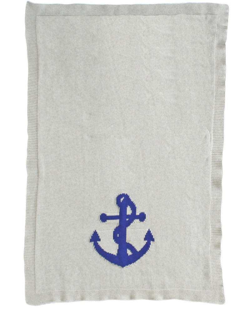 Alimrose Knit Pram Blanket - Anchor