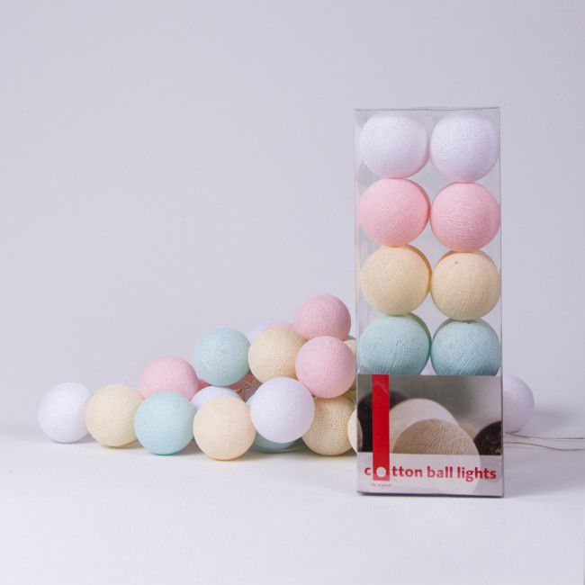 Cotton Ball Light - Pastel
