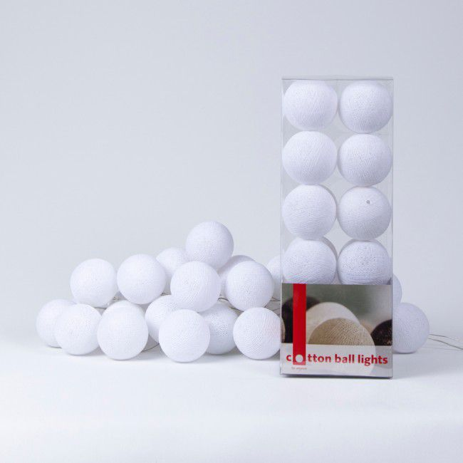 Cotton Ball Light - White