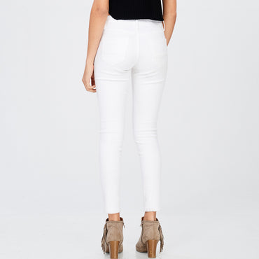 WL motto white denim