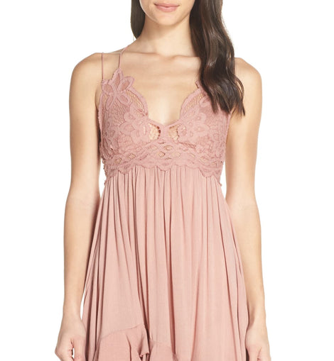 Free people crochet top ruffled hem dress