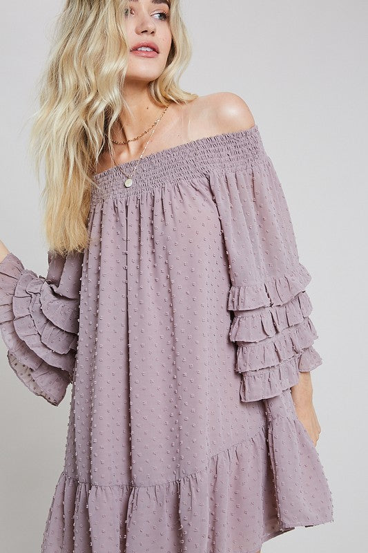 WL off the shoulder tunic/dress