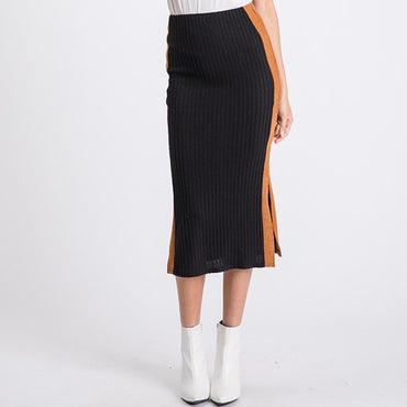 NEW skirt with sport stripe down the seam