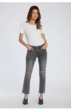 DJ grey distressed denim high rise