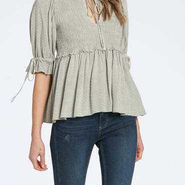 dj boho top in pale seafoam green