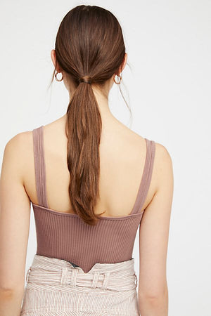 Freepeople solid rib brami in nude