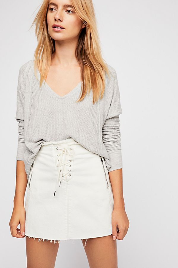 Freepeople top in heather grey