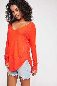 Freepeople top with raw edge detail