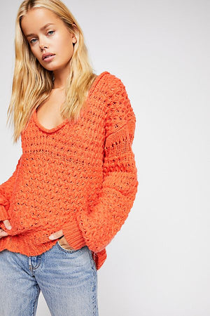 Freepeople Crashing waves pulloever in red