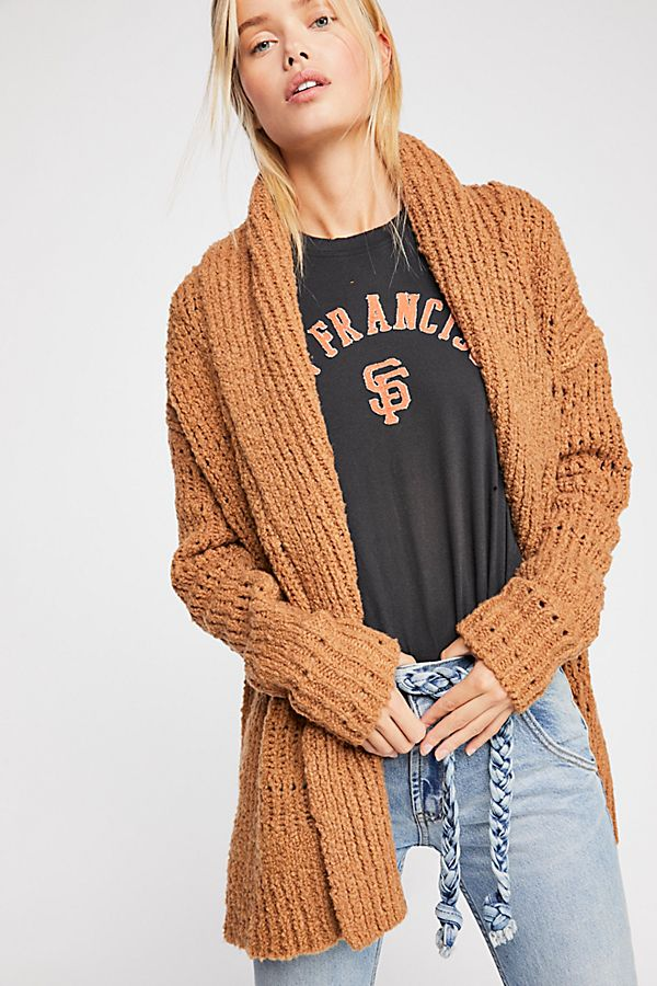 Freepeople cozy cardigan in carmel