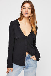 Freepeople henley in black