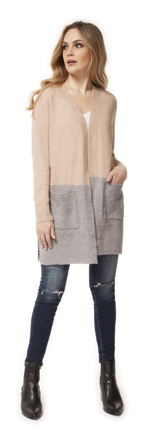 Blush/Grey Cardigan midi