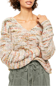 Highland V neck Sweater Freepeople