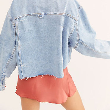 NEW Freepeople trucker denim jacket
