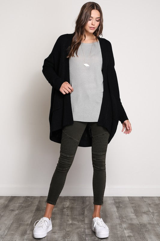Long sleeve cotton cardigan with pockets